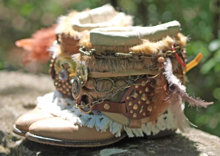 Reworked boho boots by TheLookFactory on Etsy