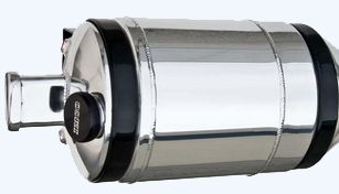 """Bullet Aluminum Tanks with Brackets Diameter x 22"""" Tall 5 1/2 Gallons 10"""" bullet fuel tank. All bullet units include 2"""" black anodized,, black mounting brackets, cast breather and/or and your choice of optional ice tube."""