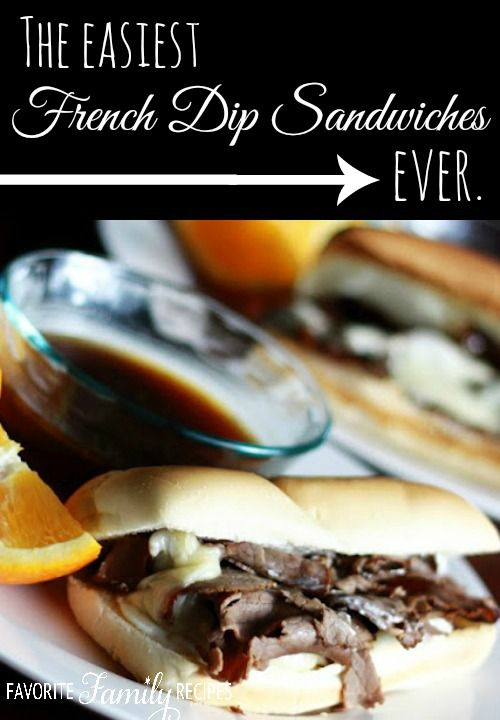 The Easiest French Dip Sandwiches Ever - I was so impressed with how easy but incredibly yummy these french dip subs were!