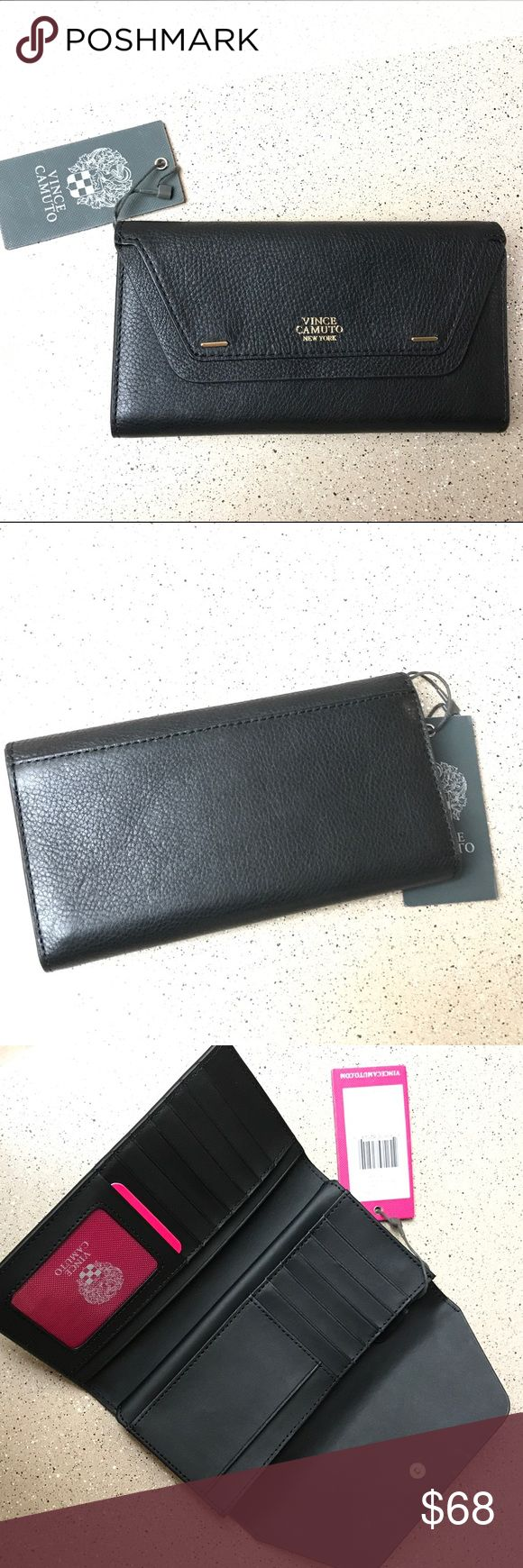 Vince Camuto Wallet Brand New Group Tessa Wallet  It has one pocket on the back and three separate one on the inside. No scratches, no box comes at shown in picture.  Open to reasonable offers Vince Camuto Bags Wallets
