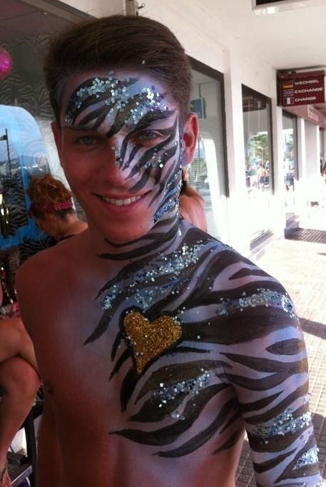 Joey Essex - painted by Kiss My Fairy Ibiza