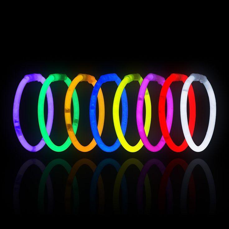 "Amazon.com: 200 8"" LumiStick Brand Glowsticks Glow Stick Bracelets Mixed Colors: Toys & Games"