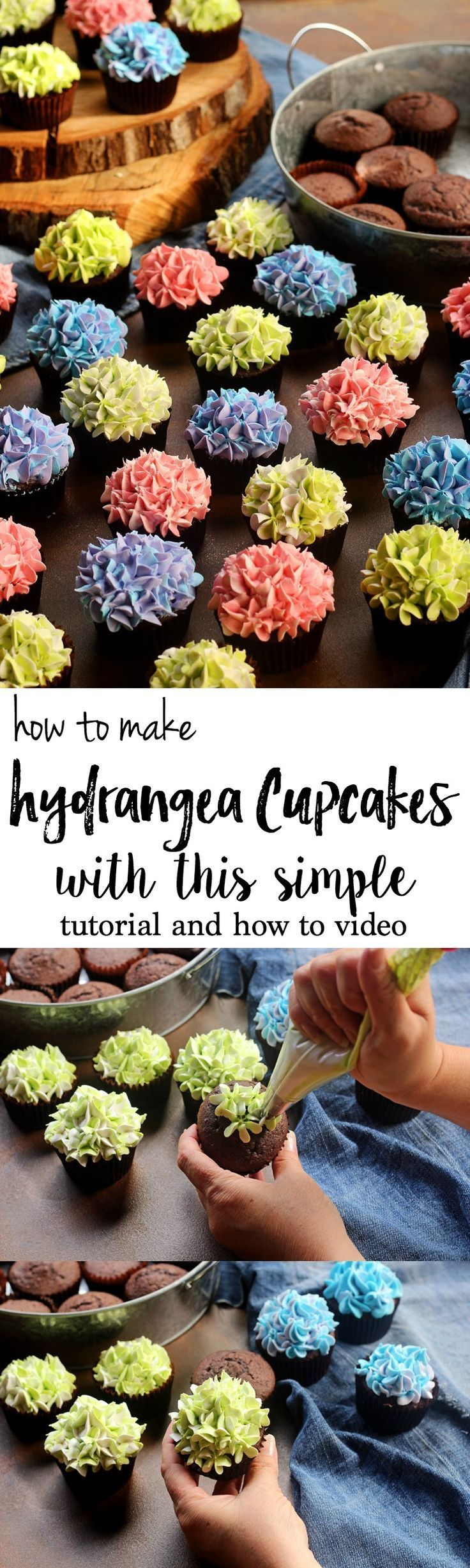 How to Make Hydrangea Cupcakes with this Simple Tutorial and and How to Video   The Bearfoot Baker