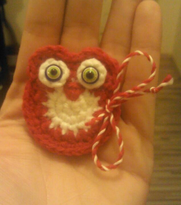 Crochet owl-Bulgarian martenitsa