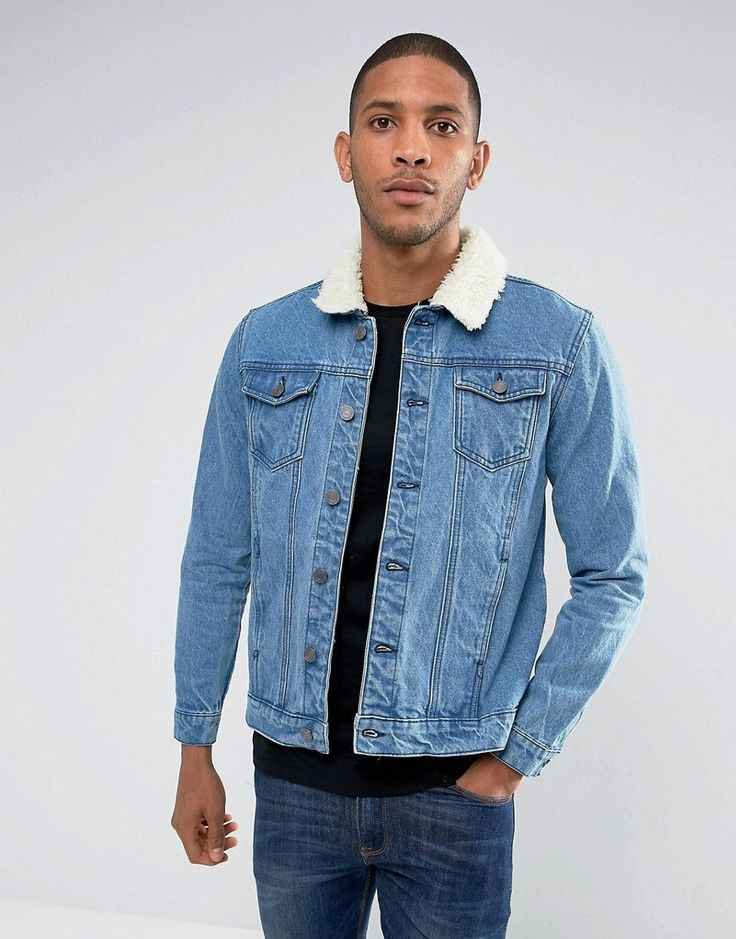 Get this Brave Soul's denim jacket now! Click for more details. Worldwide shipping. Brave Soul Denim Jacket with Borg Collar - Blue: Jacket by Brave Soul, Midweight denim, Mid blue wash, Borg collar, Button placket, Functional pockets, Regular fit - true to size, Machine wash, 100% Cotton, Our model wears a size Medium and is 189cm/6'2.5 tall. (chaqueta vaquera, vaquera, denim, jeansjacke, chaqueta denim, veste en jean, giacca in jeans)