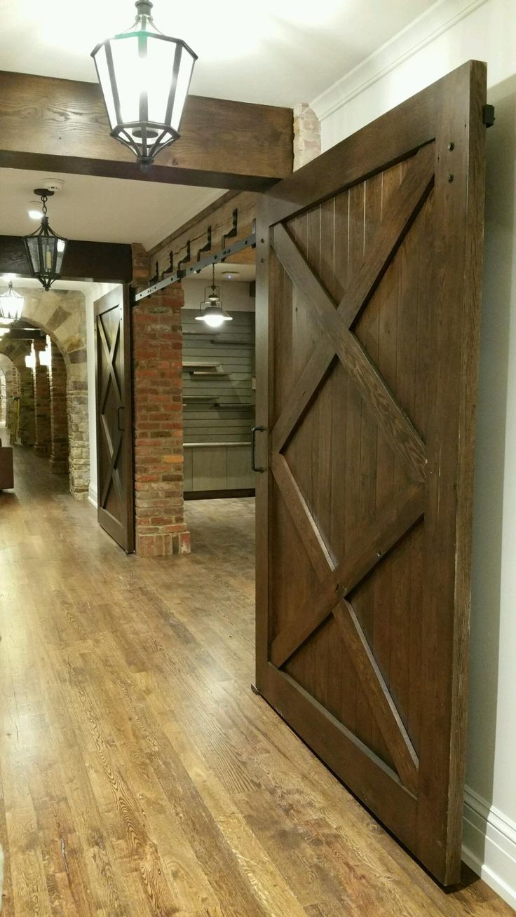 Interior barn doors custom barn doors near dallas plano frisco - Interior Barn Door Installed By The Richmond Store Teamappledoor