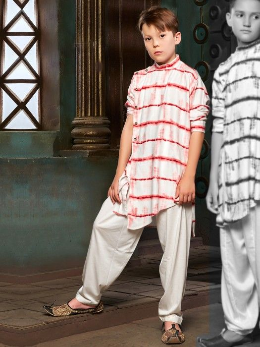 764a01afdf39 Red And White Cotton Printed Pathani Suit, Latest Designer boys pathani suit,  designer pathani suit for boys, latest boys pathani suit 2019, ...