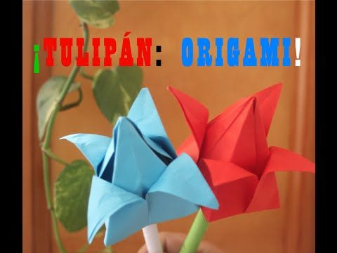 Tulipán: Origami