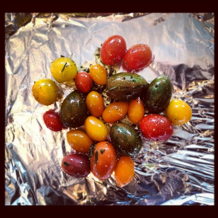 Exotic tomatoes ready to roast!