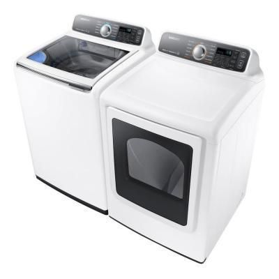 Samsung Top Load Washer with Activewash and Gas Dryer (White)