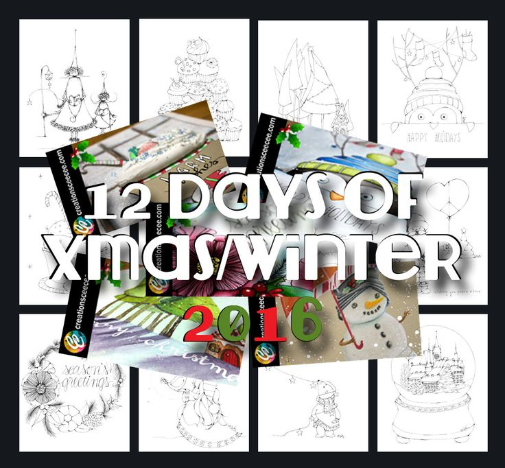 christmas printable coloring pages bundle by creationsCeeCee on Etsy
