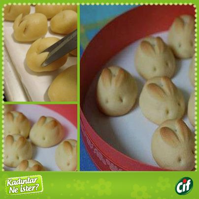 Bunny shaped cookies
