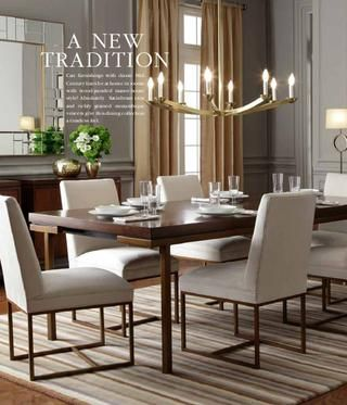 mitchell gold and bob williams chairs - modern for the dining room??