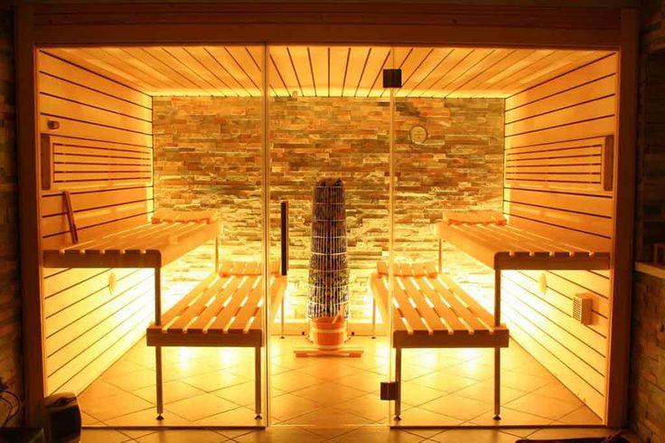Glasfront-Sauna, luxuriös, design, transparent | Apart-Sauna - Ihre individuell geplante Sauna für Zuhause vom Hersteller | Apart-Sauna