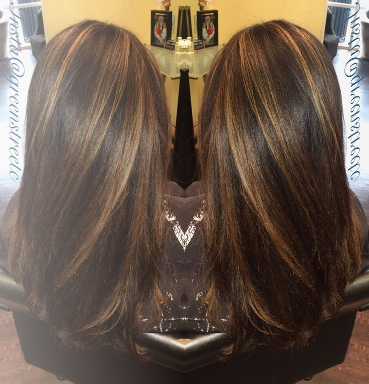 Chocolate brown and Carmel balayage, done by yours truly