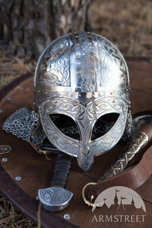 Exclusive Viking's Valsgaarde Stainless Steel Helm :: by medieval store ArmStreet