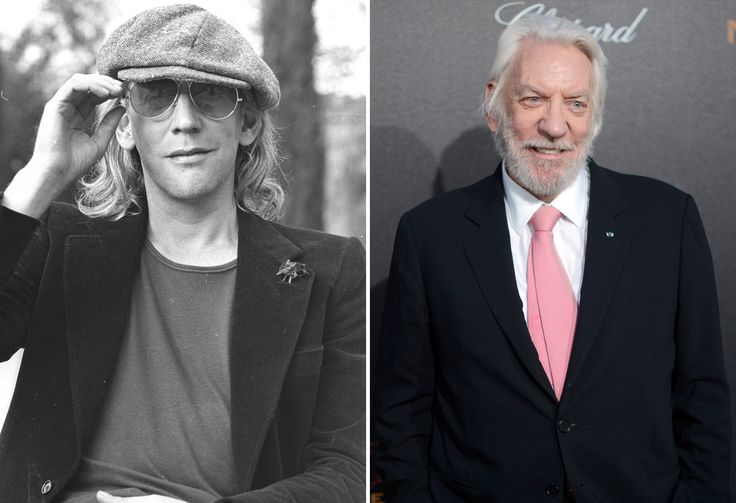 Donald Sutherland. Actors of the '70s: Then and now