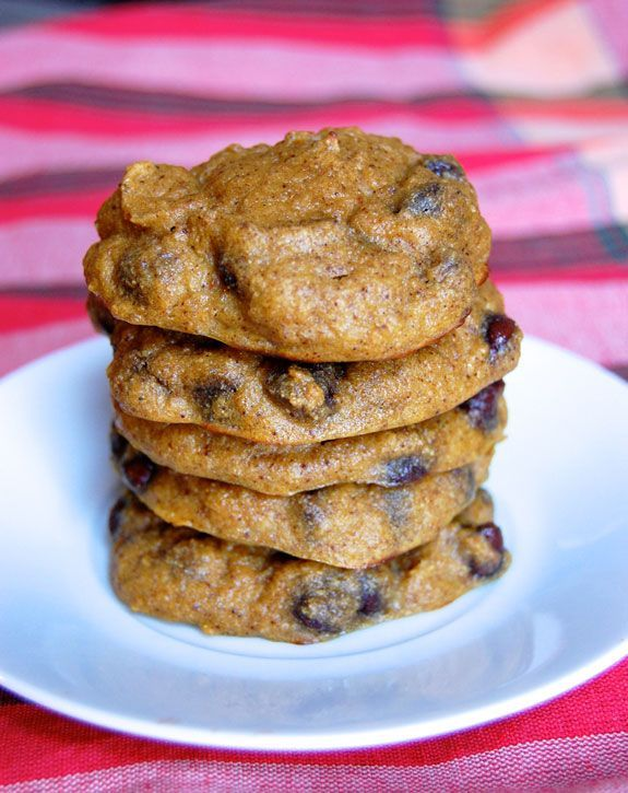 Gluten-Free Chocolate Chip Pumpkin Cake Cookies- I can't get enough of these.