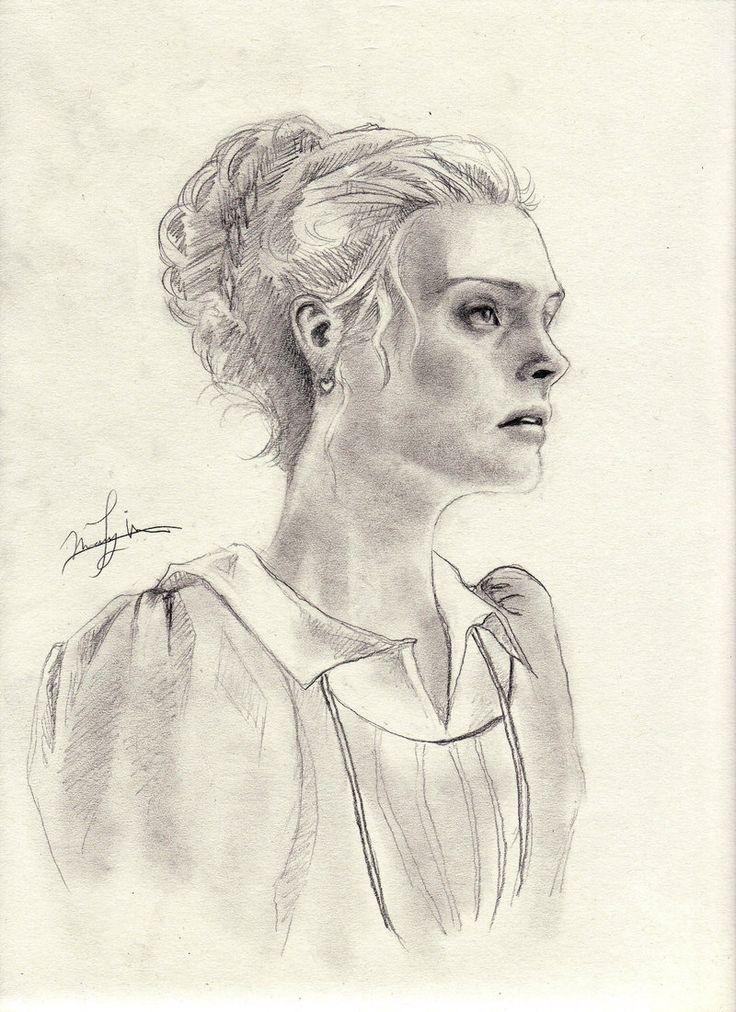 Romola Garai by Jane Austen, Emma Woodhouse, drawing http://RomolaGarai.org