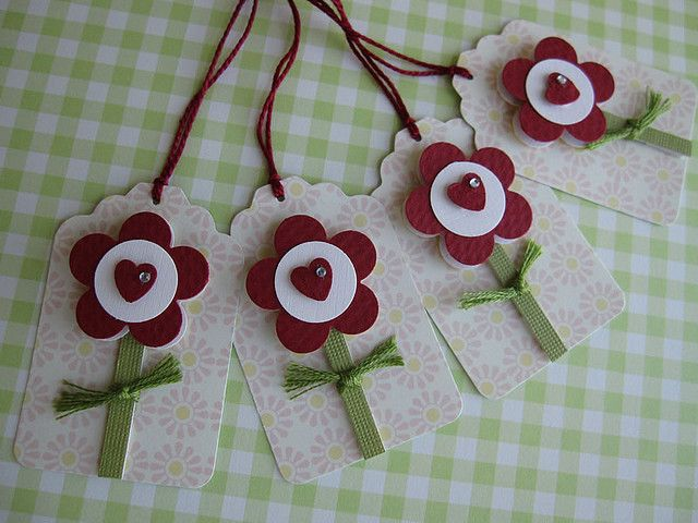 Sweet Little Heart Flower Tags by vsroses.com, via Flickr