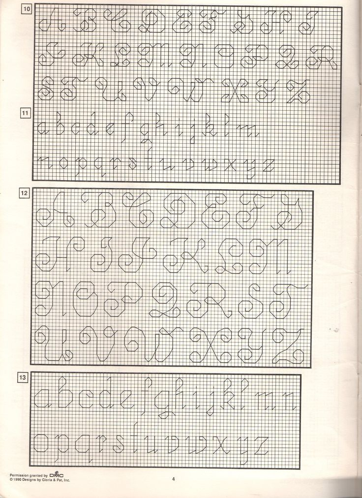 Backstitch Alphabet Patterns Must Try Craft Ideas