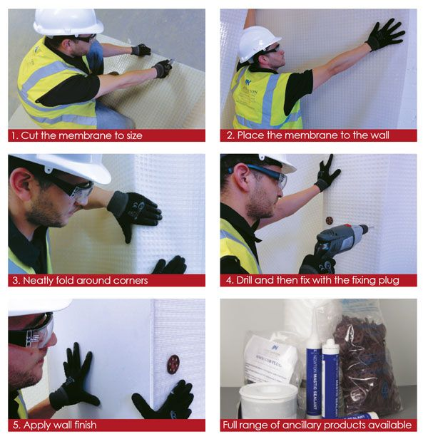 Treating A Damp Wall With Newton Damp Proof Membranes