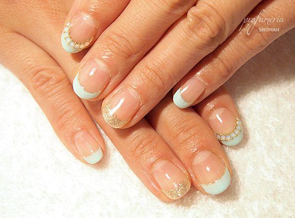 blue nails #summer
