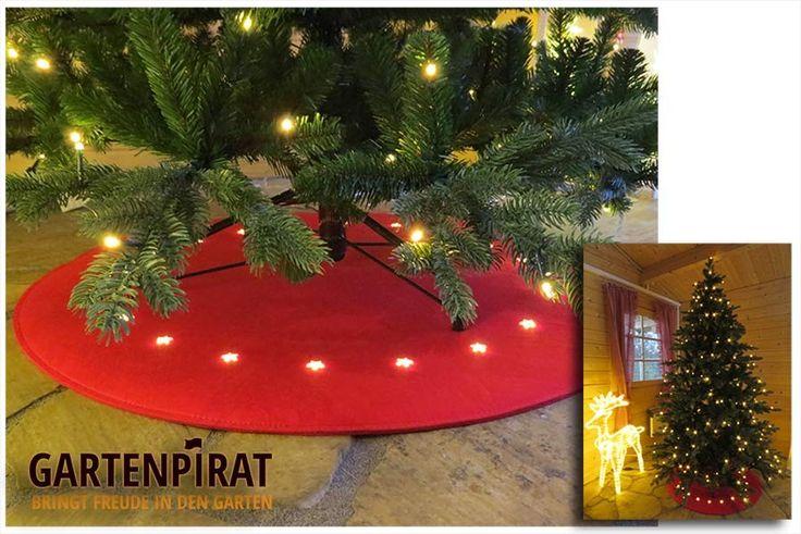 Runde #Filz #Unterlage für den #Weihnachtsbaum mit #LED #Beleuchtung als #Weihnachtsdeko zu #Weihnachten #Weihnachtsbaum #Dekoration