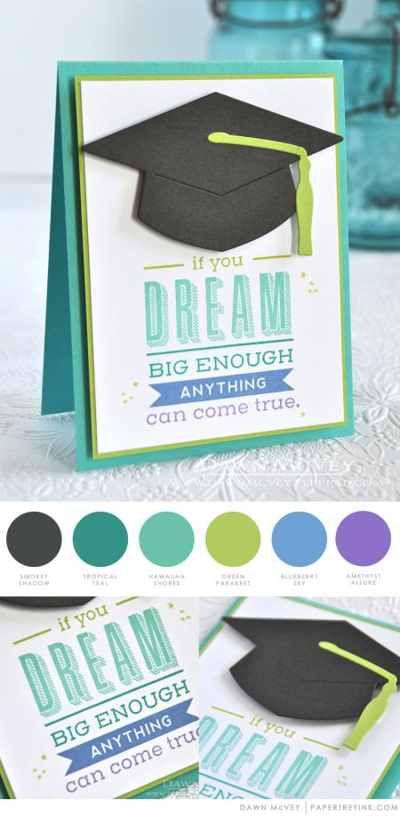 Dream Big Card by Dawn McVey for Papertrey Ink (May 2017)