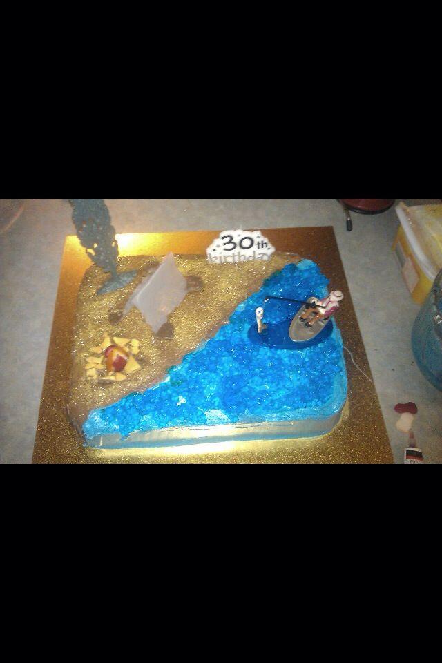 Bundys fishing/camping cake