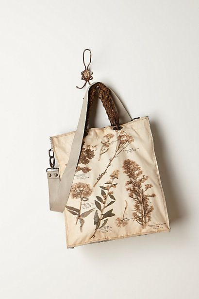 Botanical Illustration Tote  #anthropologie