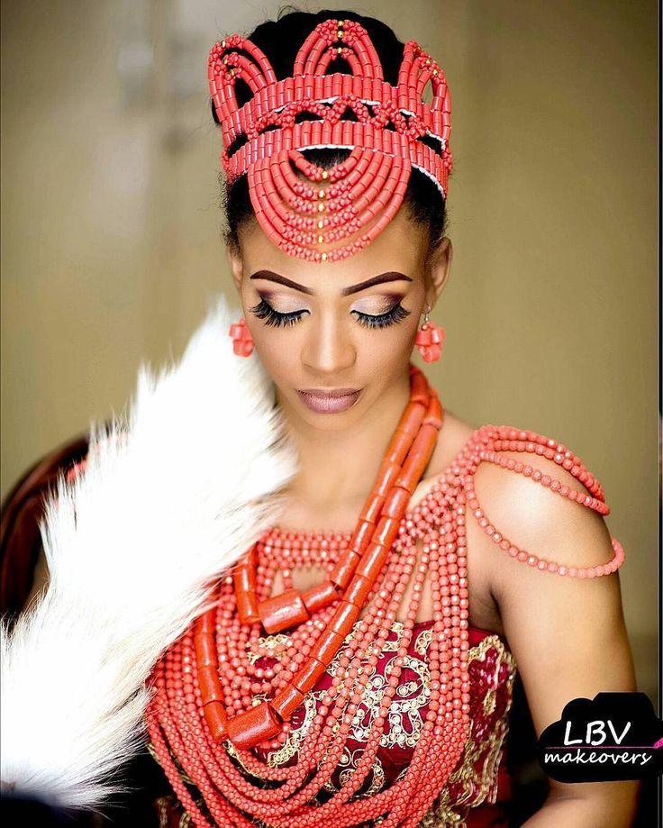 "8,370 Likes, 21 Comments - Africa's Top Wedding Website (@bellanaijaweddings) on Instagram: ""Beautiful igbo bride @thisisastronglady Makeup: @lbvmakeovers #BellaNaijaWeddinga #jjginger17"