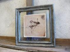 """18E - buy it!! Cadre entre deux verres """"oiseaux"""" (réf 2), Amadeus Deco"""