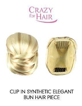 Clip In Synthetic Elegant Bun Hair Piece