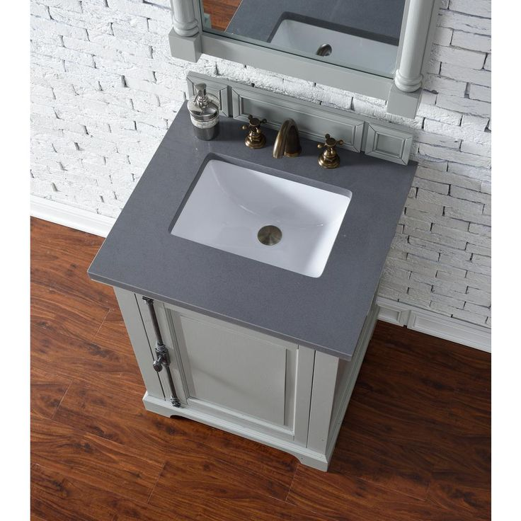 James Martin Signature Vanities Providence 26 in. W Single Vanity in Urban Gray with Quartz Vanity Top in Gray with White Basin-23815V26UG3SHG - The Home Depot