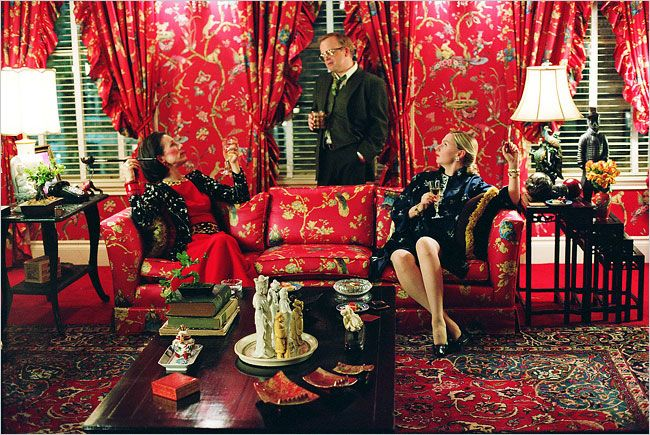 "From left, Juliet Stevenson as Diana Vreeland, Toby Jones as Truman Capote and Hope Davis as Slim Keith in the new movie ""Infamous."""