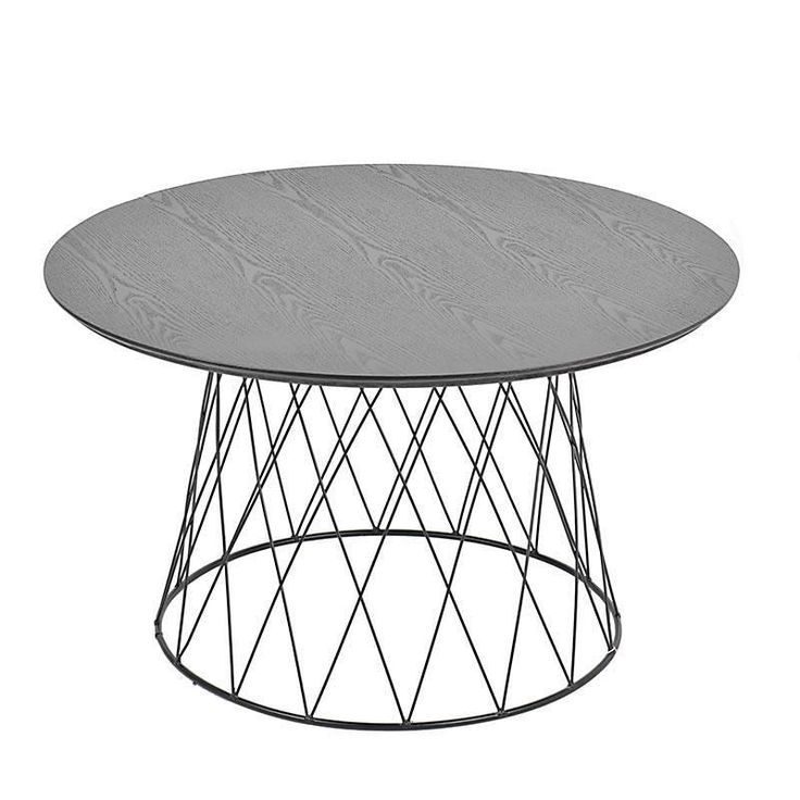 WOODEN/METAL TABLE KRISTA IN BLACK COLOR 80X80X45