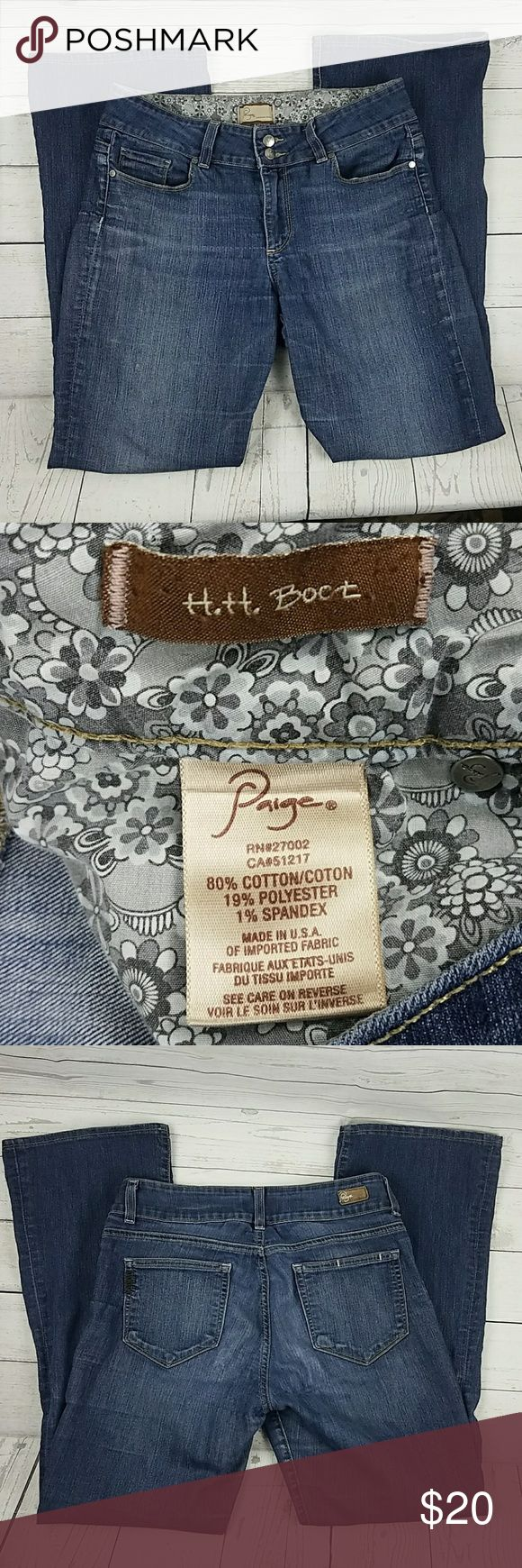 Women's Paige Jean's Boot Cut Size 30 Women's Paige Jean's are in good condition. Gently Worn. Boot Cut Size 30 Inseam 30 Rise 9 Waist 15 Paige Jeans Jeans Boot Cut