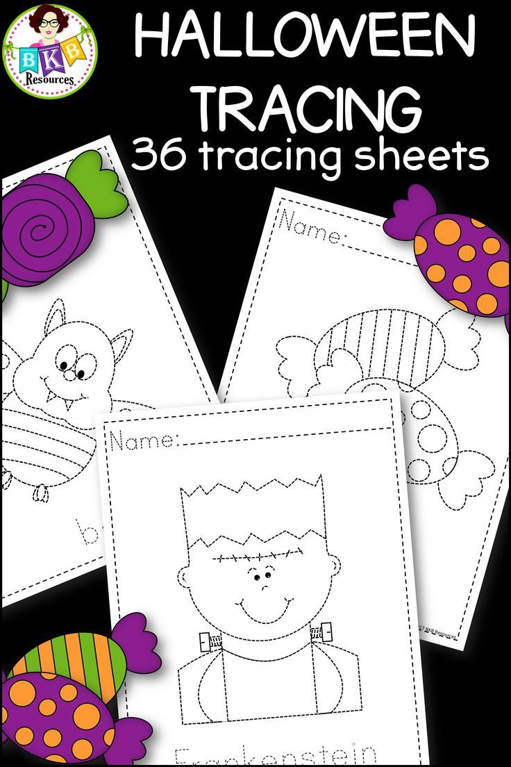These Halloween tracing sheets make for a fun no prep activity that students will love. Great for early finishers, for literacy centers or to send home for extra pre-writing practice. CLICK NOW to view. #tracing #pre-writing #Halloween #literacy #writing