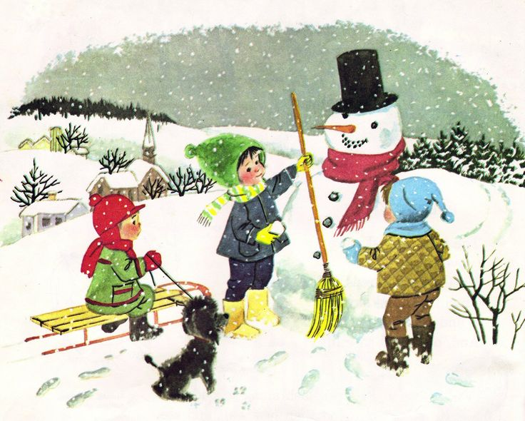 https://flic.kr/p/6gZ5jd | snowman | from Little Boy Blue Finger Plays Old And New,1966 illustrated by Alice Schlesinger
