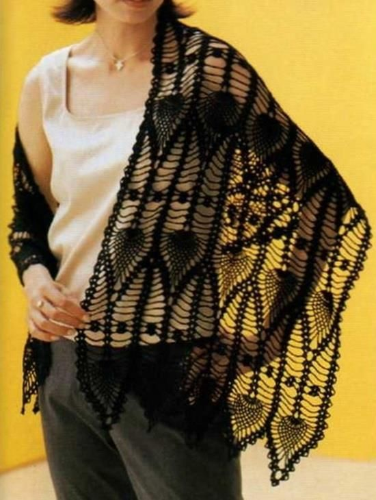#Crochet lace Wrap
