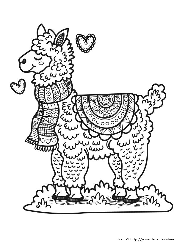 Dibujos De Llamas Para Colorear Y Alpacas Dibujos Libro De Colores Garabatos De Animales
