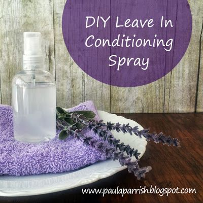 DIY Leave In Conditioning Spray Stir together 1/4 cup of vegetable glycerin with 1 cup of distilled water. For different hair types use the following essential oils blends: Dry Hair: sandalwood, ylang ylang, lavender essential oils. Normal Hair: rosemary, rose, lavender, geranium essential oils. Oily Hair: lemon, sage, lemon, tea tree, geranium essential oils. Substitute coconut oil for vegetable glycerin