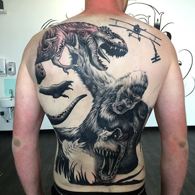 king kong tattoo designs images galleries with a bite. Black Bedroom Furniture Sets. Home Design Ideas