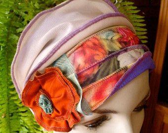 Chemo Mützen für Frauen Haarausfall Alopezie Floral Flapper Cloche mit Blume Chemo Mützen