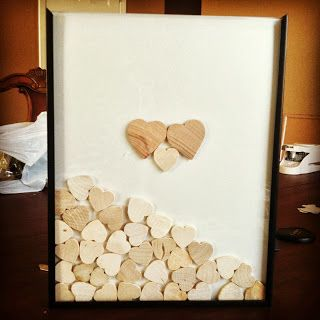 "Finally found out how to make a ""shadow box"" guest book alternative!"