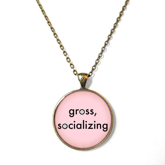 Pastel Pink gross socializing Pastel Goth Necklace by SnarkFactory, $15.00