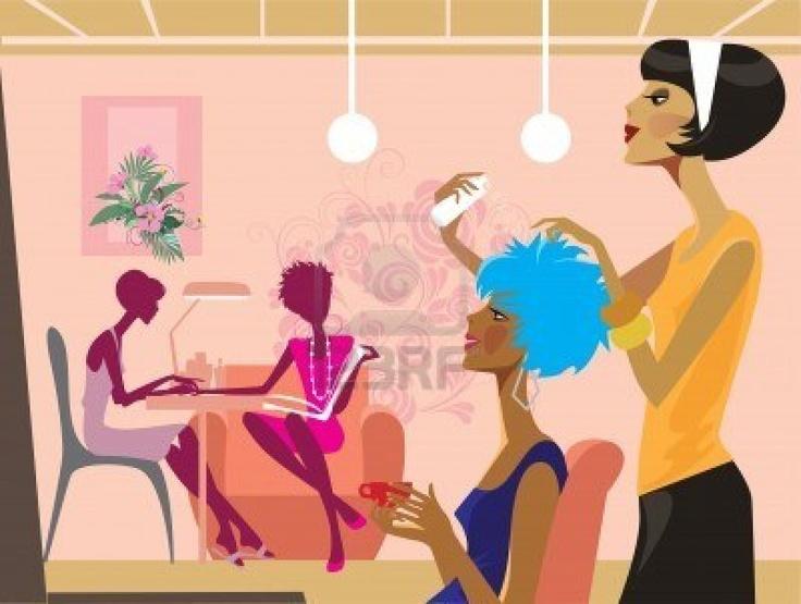 women in a beauty salon Stock Photo