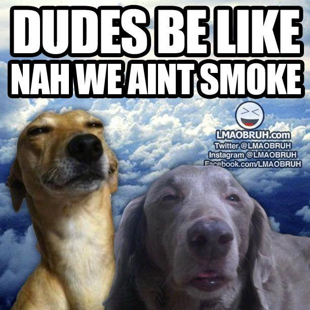 Dudes be like... Nah we aint smoke.