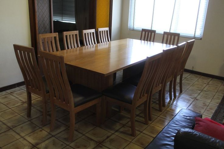 local made tasmanian oak byron dining table 12 seater set 2800/1200.  | eBay